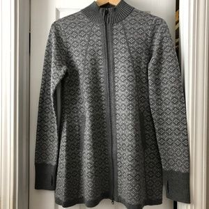 Cynthia Rowley Full Zip Sweater Thumbholes M NEW